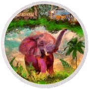 Disney's Jungle Cruise Round Beach Towel