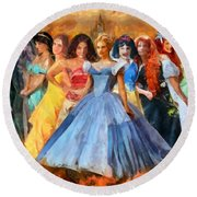 Disney's Princesses Round Beach Towel