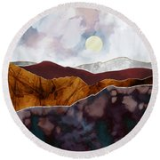 Distant Light Round Beach Towel