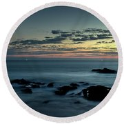 Distant Points Of Light Round Beach Towel