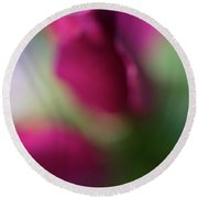 Distant Roses Round Beach Towel