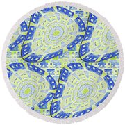 Distorted Order Round Beach Towel