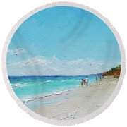 Ditch Plains Beach Montauk Hamptons Ny Round Beach Towel