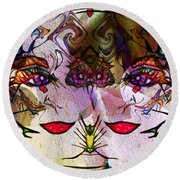Diva Duo Round Beach Towel