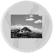 Divide In Blackand White Round Beach Towel