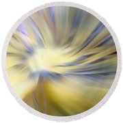 Divine Energy Round Beach Towel by Lauren Radke