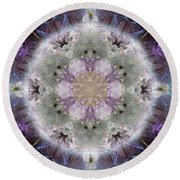 Divine Love Round Beach Towel