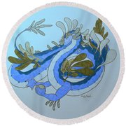 Divine Lung- Water Round Beach Towel by Wendy Coulson