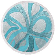 Divine Peace Round Beach Towel
