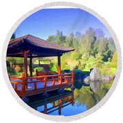 Do-00003 Shinden Style Pavilion Round Beach Towel