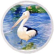 Do-00088 Pelican Round Beach Towel