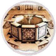 Round Beach Towel featuring the photograph Do-00323 Old Bath Fountain by Digital Oil
