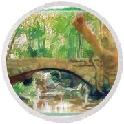 Do-00457 Janneh Bridge Round Beach Towel