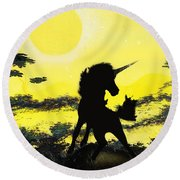 Do You Believe Round Beach Towel