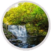 Doans Falls Lower Falls Round Beach Towel