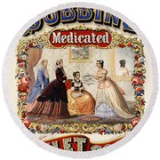 Dobbins Medicated Toilet Soap Advertising 1869 Round Beach Towel