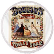Dobbins Medicated Toilet Soap Round Beach Towel