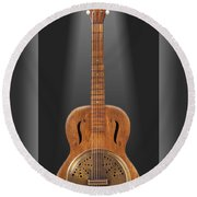 Dobro In A Box Round Beach Towel