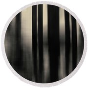 Round Beach Towel featuring the photograph Dock And Reflection I Toned by David Gordon