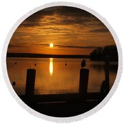 Dock Of The Bay Round Beach Towel