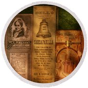 Doctor - Compound Extracts And Sarsaparilla Round Beach Towel