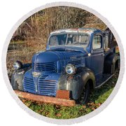 Dodge Pickup Round Beach Towel