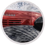 Dodge Truck Round Beach Towel