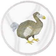 Dodo Bird Protrait Round Beach Towel