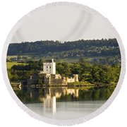 Doe Castle, County Donegal, Ireland Round Beach Towel