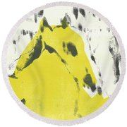 Dog At The Beach - Black Ivory 2 Round Beach Towel