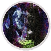 Dog Spirit Guide Round Beach Towel