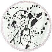 Dog Spot Round Beach Towel