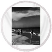 Dog Walk Round Beach Towel