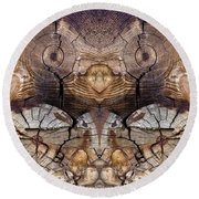 Dog-wood Owl Round Beach Towel