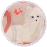 Round Beach Towel featuring the digital art Doggie Art  My Love by Sherri Of Palm Springs