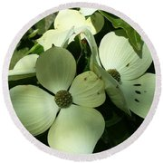 Dogwood Flowers Round Beach Towel