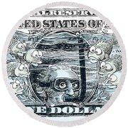 Dollar Submerged Round Beach Towel