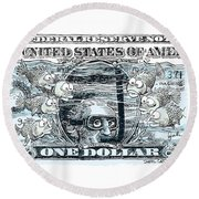 Dollar Submerged Round Beach Towel