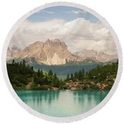 Round Beach Towel featuring the photograph Dolomiti View I by Yuri Santin