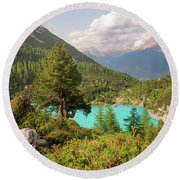 Round Beach Towel featuring the photograph Dolomiti View by Yuri Santin