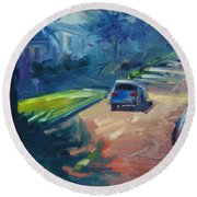 Dolores Street Round Beach Towel
