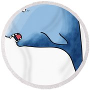 Dolphin Blue Round Beach Towel