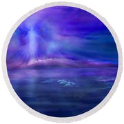 Dolphin Dreaming Round Beach Towel