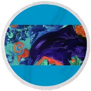 Dolphin Dreams Round Beach Towel