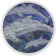 Dolphins - Beneath The Waves Series Round Beach Towel