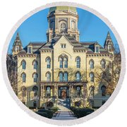 Dome At University Of Notre Dame  Round Beach Towel