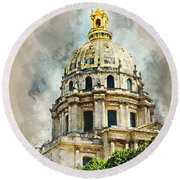 Dome Des Invalides Round Beach Towel