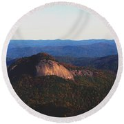 Round Beach Towel featuring the photograph Dome Top by Debra Crank