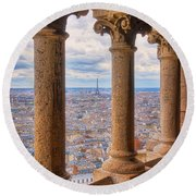 Round Beach Towel featuring the photograph Dome Views by Darren White