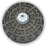 Domed Ceiling In England Round Beach Towel